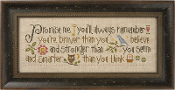 Lizzie Kate Promise Me inspirational counted cross stitch pattern