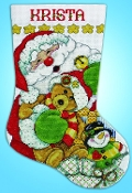 Design Works Santa and Friends Christmas counted cross stitch stocking kit