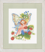 Lanarte Counted Cross Stitch Kit Wild Strawberries Girl