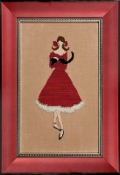 Mirabilia Designs Red Kitten Nora Corbett counted cross stitch pattern