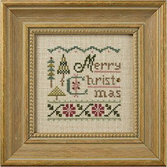 Lizzie Kate - a little Christmas counted cross stitch kit - The beautiful muted palette is a fun update on traditional Christmas red and green, yet blends beautifully with any Christmas décor