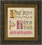 Lizzie Kate Double Flip - Fear Less Hope More counted cross stitch pattern