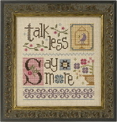 Lizzie Kate Double Flip - Talk Less Say More counted cross stitch pattern