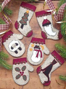 Rachel's of Greenfield Christmas Woolens - Christmas Ornaments embroidery kit