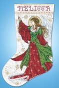 Design Works Angel of Joy Christmas counted cross stitch Stocking kit