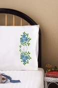Tobin Home Crafts Love pillowcases stamped for embroidery