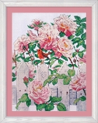 Design Works Crafts Roses in Provence counted cross stitch picture kit