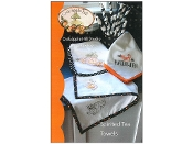 Crabapple Hill Studio Spirited Tea Towels - hand embroidery Halloween patterns