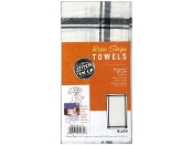 Aunt Marthas three pack black stripe cotton kitchen dish towels