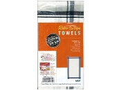 Aunt Marthas three pack Navy stripe cotton kitchen dish towels