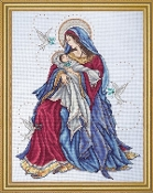 Design Works Crafts Madonna and Child beaded counted cross stitch kit