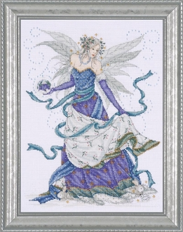 Design Works Crafts Ice Fairy beaded counted cross stitch kit