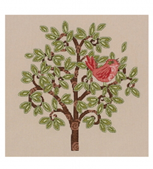 Bucilla Counted cross stitch picture kit - Red Bird on Tree