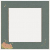Mill Hill Frame GBFRFA5 Matte Green wood frame with Pumpkins