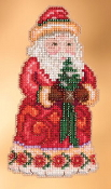 Jim Shore by Mill Hill - Christmas Cheer Santa JS20-3102 Christmas Ornament beaded counted cross stitch kit