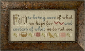 Lizzie Kate Boxer, Faith is Being Sure, Inspirational counted cross stitch kit