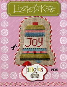Lizzie Kate Jingles Flip-It Joy F136 Christmas counted cross stitch pattern with embellishment
