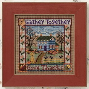 Mill Hill Autumn Series - Gather Together Give Thanks MH14-0202 beaded counted cross stitch kit