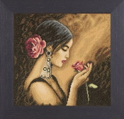 Lanarte Platinum - Spanish Beauty counted cross stitch picture kit