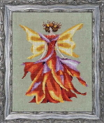 Mirabilia Designs Faerie Autumn Glow NC203 design by Nora Corbett counted cross stitch pattern