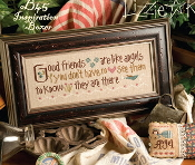 Lizzie Kate Boxer - Good Friends Are Like Angels counted cross stitch pattern kit