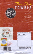Aunt Marthas flour sack kitchen dish tea towels white cotton