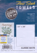 Aunt Martha's Flour Sack kitchen towels - White cotton