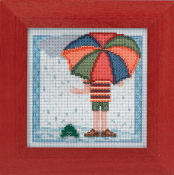 Mill Hill Spring Series - Rainy Day - beaded counted cross stitch kit