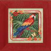 Mill Hill Spring Series - Parrot - beaded counted cross stitch kit