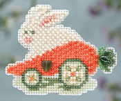 Mill Hill Spring Collection - Rabbit Ride - Easter beaded counted cross stitch ornament kit