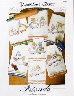 Yesterdays Charm Friends iron on embroidery transfers, patterns