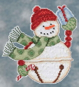 Mill Hill Snowbells - Freezy Snowman Debbie Mumm Christmas Ornament beaded counted cross stitch kit
