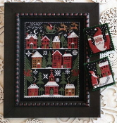 The Prairie Schooler Happy Christmas counted cross stitch patterns chart