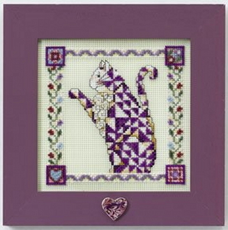 Mill Hill Quilted Cats - Petunia - Jim Shore beaded counted cross stitch kit