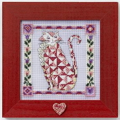 Mill Hill Quilted Cats - Scarlet - Jim Shore beaded counted cross stitch kit