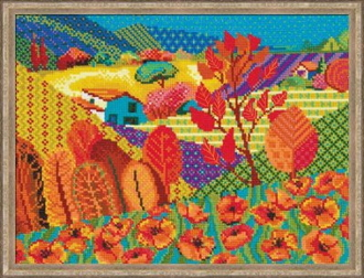 Riolis - Meadow of Fairytale counted cross stitch picture kit