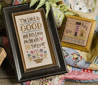 Lizzie Kate Boxer - The Lord is Good counted cross stitch pattern kit