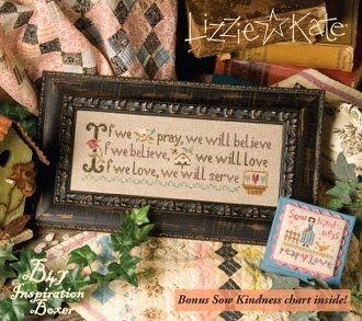 Lizzie Kate Boxer - If We Pray counted cross stitch pattern kit