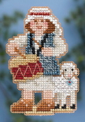 Mill Hill Winter Holiday collection Drummer Boy MH18-4305 Christmas Ornament counted cross stitch kit with treasure