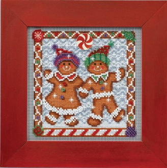 Mill Hill Buttons and Beads Winter series Ginger Friends Christmas beaded counted cross stitch kit