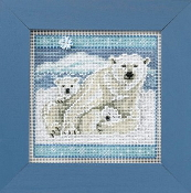 Mill Hill Buttons Beads Winter Series - Polar Bears beaded counted cross stitch kit