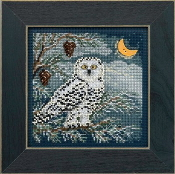 Mill Hill Buttons Beads Winter Series - Snowy Owl beaded counted cross stitch kit