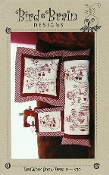 Bird Brain Designs Redwork Snow People hand embroidery patterns