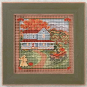 Mill Hill Autumn Series Harvest Home beaded counted cross stitch kit