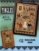 Lizzie Kate Tingles Double Flip Ghosties Ghoulies Haunted Counted cross stitch pattern chart buttons