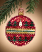 Mill Hill Ruby Forest Christmas Ornament counted cross stitch kit