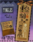 Lizzie Kate Tingles Double Flip Its Hallo-scream Toil Trouble Halloween Counted cross stitch pattern chart buttons