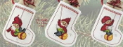 Permin Elf Stockings Christmas ornaments counted cross stitch kit