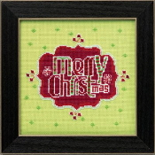 Mill Hill Amylee Weeks Christmas beaded counted cross stitch kit - Merry Christmas