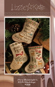 Lizzie Kate Flora McSamples 2014 Stockings Christmas Counted Cross Stitch chart with embellishments